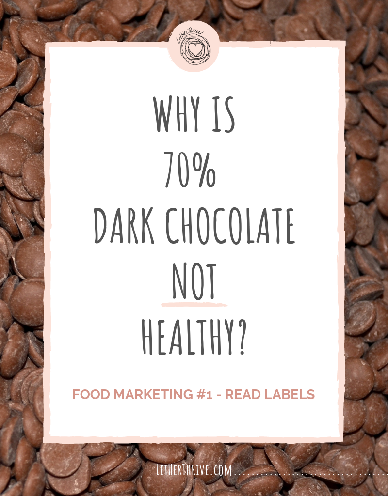 why is 70% dark chocolate not healthy